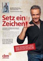 Poster der Kampagne Setz ein Zeichen mit Hannes Jaenicke