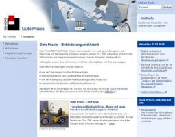 Homepage des Internetportals Rehadat Gute Praxis