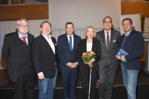Gruppenbild der Redner auf der BAG WfbM-Veranstaltung Arbeit 4.0