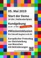 Plakat Demonstration Europäischer Protesttag zur Gleichstellung von Menschen mit Behinderungen