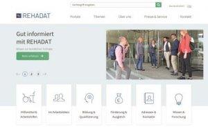 Screenshot der neuen REHADAT-Homepage
