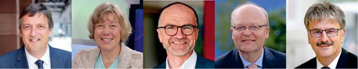 Neuer Vorstand der BAG WfbM: Vorstandsvorsitzender Martin Berg und die stellvertretenden Vorsitzenden: Andrea Stratmann, Hans Horn, Dr. Jochen Walter und Dr. Michael Weber (v.l.n.r.)