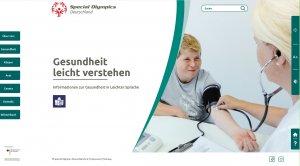 Screenshot Homepage Gesundheit leicht verstehen