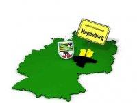 Bundesland Sachsen-Anhalt mit Landeshauptstadt Magdeburg