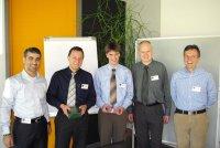 Internationale Zusammenarbeit: v.l. Ibrahim Hasan Al Marzouqi, Thomas Umsonst, Bastian Giesselmann, Peter Koch und Thomas Pape.