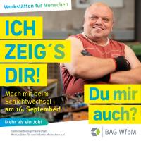 """Kampagnenmotiv """"Mehr als ein Job"""" mit Alexander, Mitarbeiter im Bereich E-Recycling"""