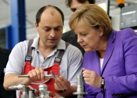 Bundeskanzlerin Merkel beim Unternehmen Di Hako